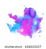 colorful abstract watercolor... | Shutterstock .eps vector #636023327
