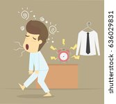 businessman wake up early.vector | Shutterstock .eps vector #636029831