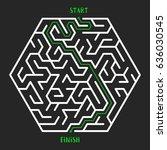 hexagonal maze game background. ...   Shutterstock .eps vector #636030545