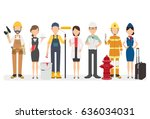 people group different... | Shutterstock .eps vector #636034031