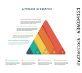 pyramid infographic colorful... | Shutterstock .eps vector #636034121