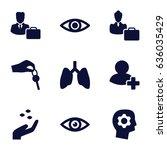 human icons set. set of 9 human ... | Shutterstock .eps vector #636035429
