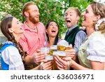 five friends  men and women ... | Shutterstock . vector #636036971