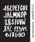 calligraphic alphabet. vector... | Shutterstock .eps vector #636037127