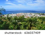 scenic view of roseau town and... | Shutterstock . vector #636037409