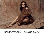 fashionable female model   Shutterstock . vector #636055679