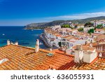 top view in cadaques  catalonia ... | Shutterstock . vector #636055931