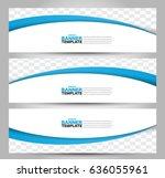 banner template. abstract... | Shutterstock .eps vector #636055961