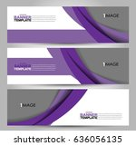 banner template. abstract... | Shutterstock .eps vector #636056135