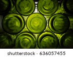 Green  Bottoms Of Wine Bottle...