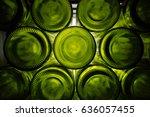 Green  Bottoms Of Wine Bottle...