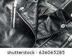 female leather jacket | Shutterstock . vector #636065285