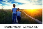 little boy and girl in the... | Shutterstock . vector #636066437