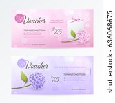 set of gentle gift vouchers...   Shutterstock .eps vector #636068675