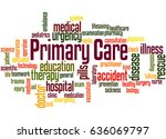primary care  word cloud...   Shutterstock . vector #636069797