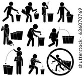 trash cleaning background. no... | Shutterstock .eps vector #636070769