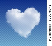 realistic vector cloud heart.... | Shutterstock .eps vector #636075941