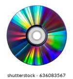 Colorful Compact Disc Isolated...