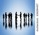 business group concept... | Shutterstock . vector #636084407