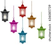 ramadan kareem. six...   Shutterstock .eps vector #636085739