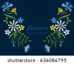 vector design for collar t... | Shutterstock .eps vector #636086795