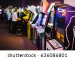 Old vintage arcade games in a...