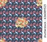 vintage seamless pattern in...   Shutterstock .eps vector #636089525