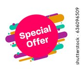 sticker special offer  flat... | Shutterstock .eps vector #636096509
