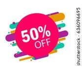 sticker special offer  flat... | Shutterstock .eps vector #636096695