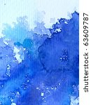 Blue Watercolor On Textured...