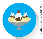 isolated ice cream on a colored ... | Shutterstock .eps vector #636108725