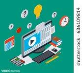 video tutorial  e learning ... | Shutterstock .eps vector #636109814