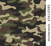 camouflage seamless pattern... | Shutterstock .eps vector #636110585