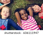 happiness group of cute and... | Shutterstock . vector #636111947