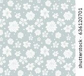 vector tropical gray white... | Shutterstock .eps vector #636120701
