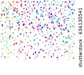 colorful confetti falling on... | Shutterstock .eps vector #636130541