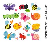 insect character design | Shutterstock .eps vector #636138089