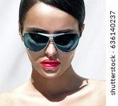 beauty portrait of beautiful... | Shutterstock . vector #636140237