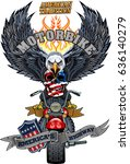 vintage motorcycle label   Shutterstock .eps vector #636140279