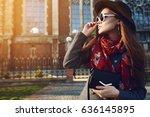 outdoor waist up portrait of... | Shutterstock . vector #636145895