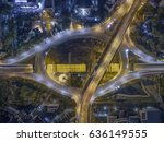 road traffic in city at... | Shutterstock . vector #636149555