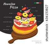 vector  illustration of tasty... | Shutterstock .eps vector #636153827