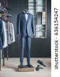 luxury men fashion suit... | Shutterstock . vector #636154247