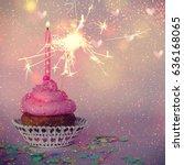 cupcake | Shutterstock . vector #636168065