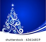 blue christmas template with...