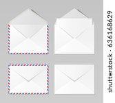 Set Of C6 Envelopes  Realistic...