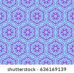 modern floral pattern of... | Shutterstock .eps vector #636169139