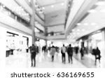 abstract blur shopping mall... | Shutterstock . vector #636169655