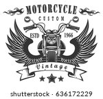 vintage logo print with retro... | Shutterstock .eps vector #636172229