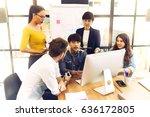 asian young man business... | Shutterstock . vector #636172805